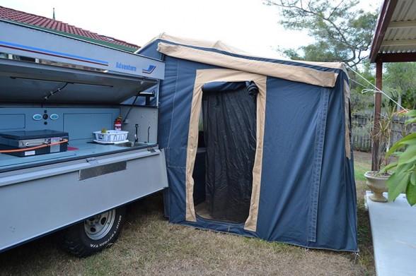 Camper Setup - Tent