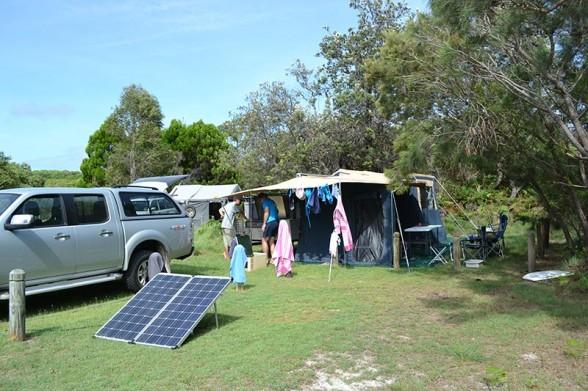 Moreton Island - Camper Setup