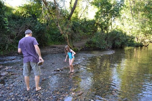 Amamoor Creek - Looking for Rocks