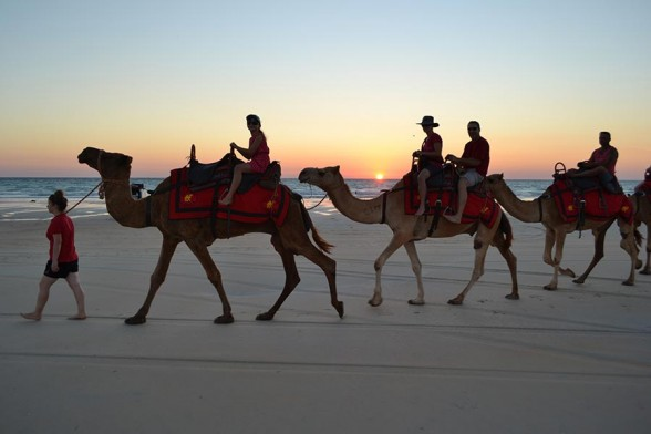 Broome, Sunset on a Camel