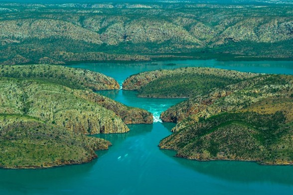 Horizontal Falls, From Plane