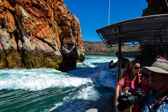 Horizontal Falls, From boat