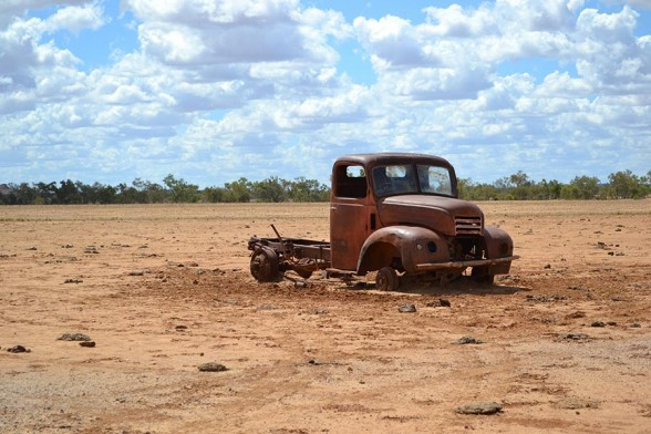 Winton to Boulia - Truck that didn't make it