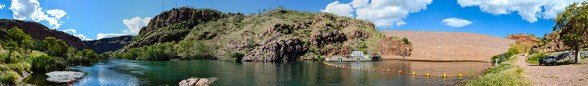 Lake-Argyle-Dam-Wall, Panorama